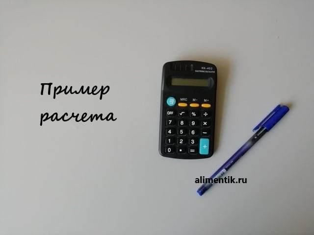 Пример расчета алиментов на калькуляторе онлайн